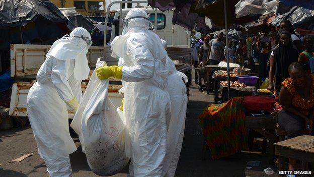 Falling Ebola cases show