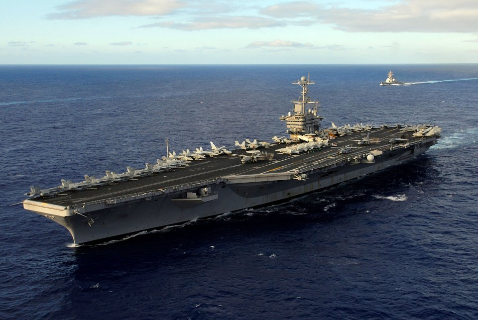US carrier leaves Middle East