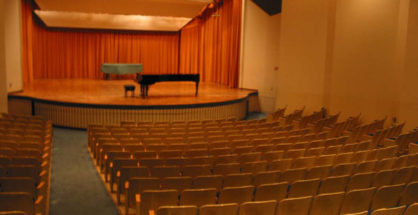 Stage for a School Concert or Recital