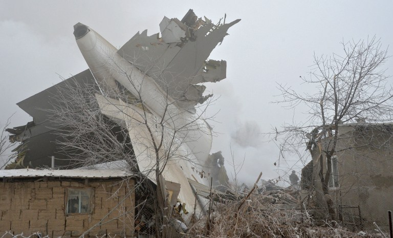 Turkish Cargo Plane Hitting Village