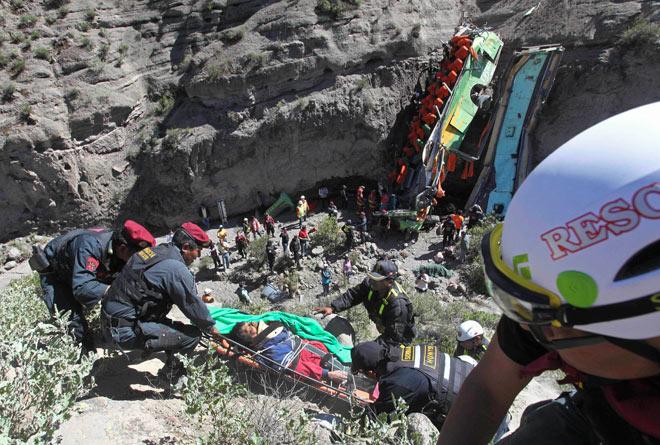 Bus Crash The Southern Peruvian