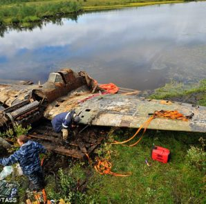wreckage-of-russian-wwii-fighter-plane
