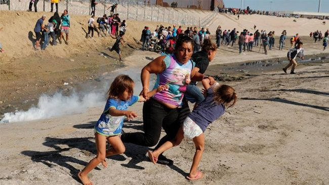Tear Gas Against Refugees