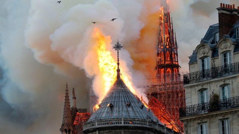Fire At Nostre Dame Cathedral