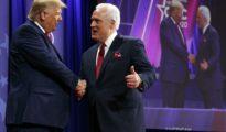 President Donald Trump and Matt Schlapp